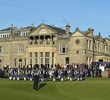 Pipe Band in Front of the Royal and Ancient Clubhouse by Adrian Wale