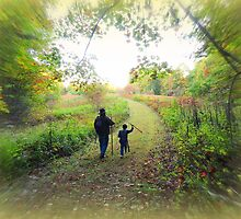 With Walking Sticks in Autumn by TrendleEllwood