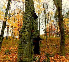 Stone Chimney on Big Pine Road by TrendleEllwood