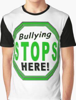 Bullying Stops Here Graphic T-Shirt