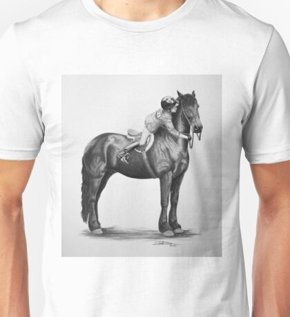 """You Make My World Complete"" Friesian portrait Unisex T-Shirt"