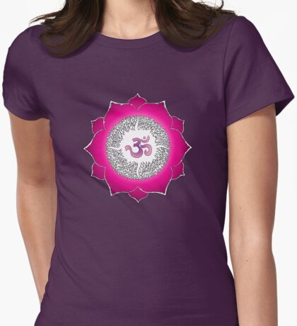 Aum 7 Womens Fitted T-Shirt