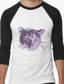 Cool Cat Head Graphic ~ cranberry T-Shirt