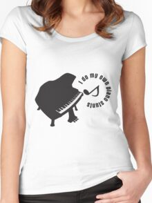 Toy_Piano Women's Fitted Scoop T-Shirt