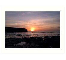 April Sunrise by St Andrews Pier Art Print