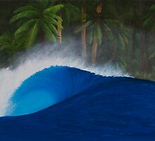 Asu Island Perfection - Surf art painting by ecosurfart
