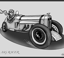 MG STYLE RACER (BLACK AND WHITE) by squigglemonkey