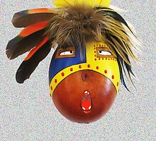 Feathered Gourd Mask by DAdeSimone