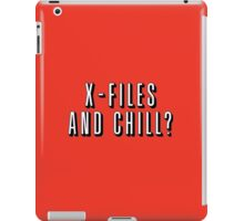X-Files and Chill iPad Case/Skin