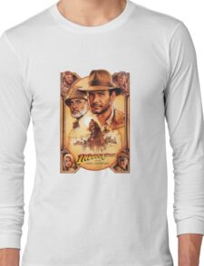 Indiana Jones and The Last Crusade Movie Poster Long Sleeve T-Shirt