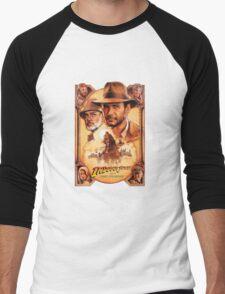Indiana Jones and The Last Crusade Movie Poster Men's Baseball ¾ T-Shirt