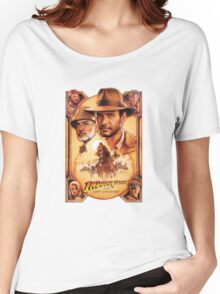 Indiana Jones and The Last Crusade Movie Poster Women's Relaxed Fit T-Shirt