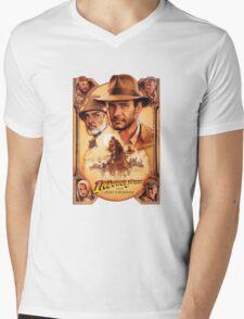 Indiana Jones and The Last Crusade Movie Poster Mens V-Neck T-Shirt