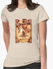 Indiana Jones and The Last Crusade Movie Poster Womens Fitted T-Shirt