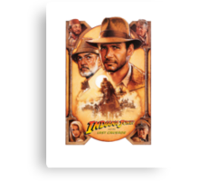 Indiana Jones and The Last Crusade Movie Poster Canvas Print