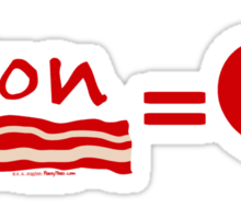 Bacon Equals Love Sticker