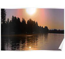 Spokane River Sunrise Poster