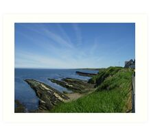 St Andrews Coastline on Beautiful Day Art Print