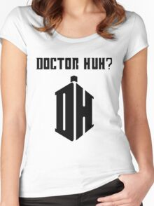 Dr Huh? - Black Women's Fitted Scoop T-Shirt