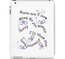 Justin Bieber songs iPad Case/Skin