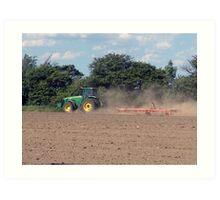 Plowin fields Art Print
