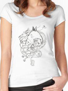 Miyazaki mash up Women's Fitted Scoop T-Shirt