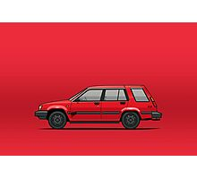 Jesse Pinkman's Crappy Red Toyota Tercel SR5 4WD Wagon AL25 Photographic Print