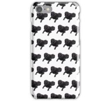 Purple Chocolate Lab White Pattern iPhone Case/Skin