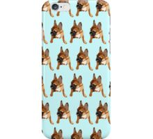 Blue French Bull Dog Color Pattern iPhone Case/Skin