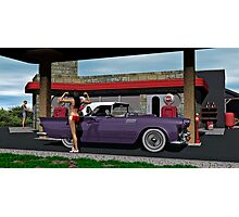1960 Gas Station on Route 66 Photographic Print