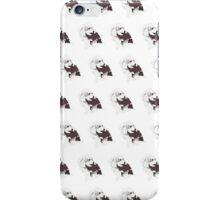 Hot Pink Pup White Pattern iPhone Case/Skin