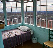 Pinnacle Knob Fire Tower~ where he slept by Nicole  McKinney