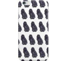 Purple Poodle White Pattern iPhone Case/Skin