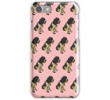 Salmon Spaniel Color Pattern iPhone Case/Skin