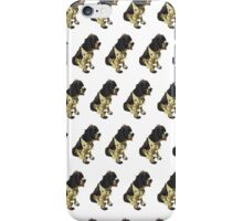 Salmon Spaniel White Pattern iPhone Case/Skin