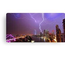 Multiple Exposure   Lightning III Canvas Print