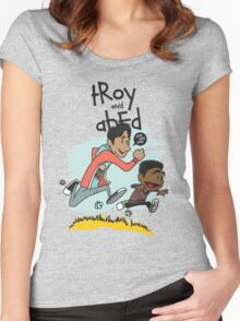 Troy + Abed Women's Fitted Scoop T-Shirt
