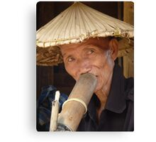 Wizened face, Chiang Mai, Thailand Canvas Print