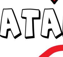 I Heart Satan Sticker