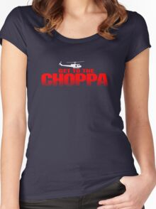 GET TO THE CHOPPA - Predator Parody  Women's Fitted Scoop T-Shirt