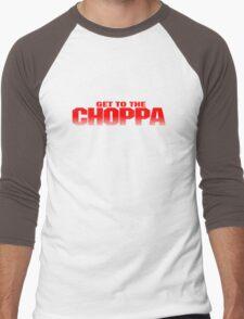 GET TO THE CHOPPA - Predator Parody  Men's Baseball ¾ T-Shirt