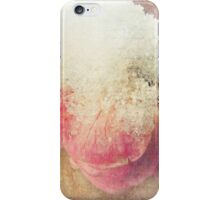 Vintage English Rose with Snow iPhone Case/Skin