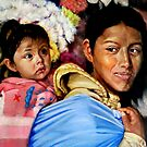 Peruvian mother and child by Hidemi Tada