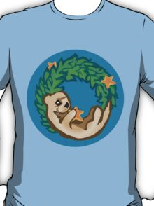 Otter Holiday Wreath T-Shirt