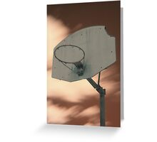 Shooting hoops on Mars Greeting Card