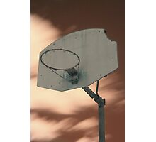 Shooting hoops on Mars Photographic Print