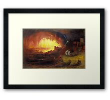 John Martin, The Destruction of Sodom and Gomorrah,  Framed Print