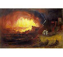 John Martin, The Destruction of Sodom and Gomorrah,  Photographic Print