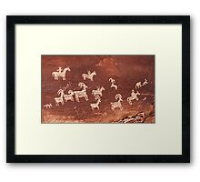 Wolf Ranch rock art Framed Print