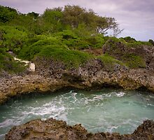 Tonga - Water flow by Derek  Rogers